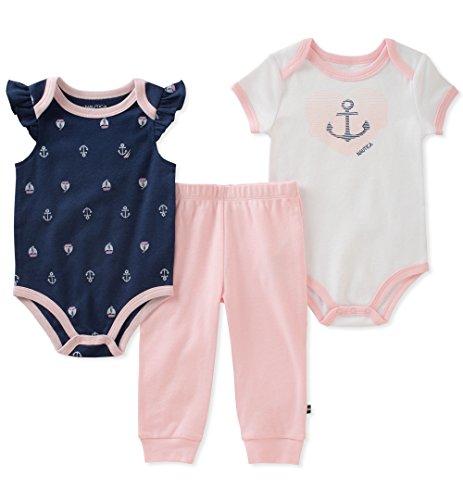 Nautica Baby Girls Bodysuit Pant Set