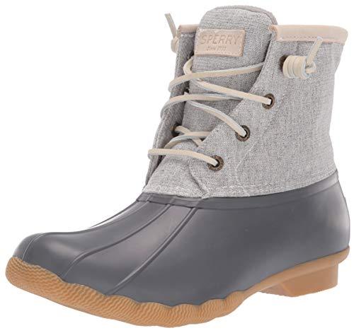 SPERRY Women's Saltwater Metallic Rain Boot, Grey, 7.5 M US