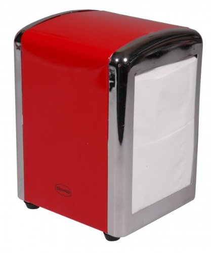 Cabanaz Diner Table Top 250 Napkin Tissue Dispenser Scarlet Red 1201350 C1201350