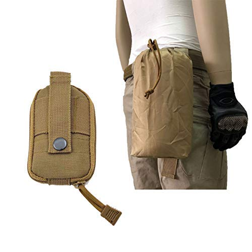 AIWAYING Molle Dump Pouch Drawstring Spacious Folding Magazine Bag Military Holster Pack Outdoor Water Bottle Ammo Pouch