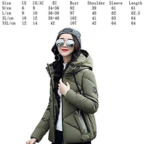 Giacca Cerniera Estilo Stampato Termico Trapuntata Cappotti Grau Donna 88 Bobo Incappucciato A Autunno Chiusura Casual Invernali Imbottitura Cappotto Giacche Piumino Especial Calda Fashion 7ZHqa6
