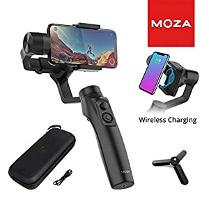Moza Mini-MI 3-Axis Smartphone Gimbal Stabilizer Wireless Phone Charging Multiple Subjects Detection 360ø Rotation Inception Mode Stunning Motion Timelapse for iPhone X 8 7 Plus 6 Plus Samsung Galaxy 26