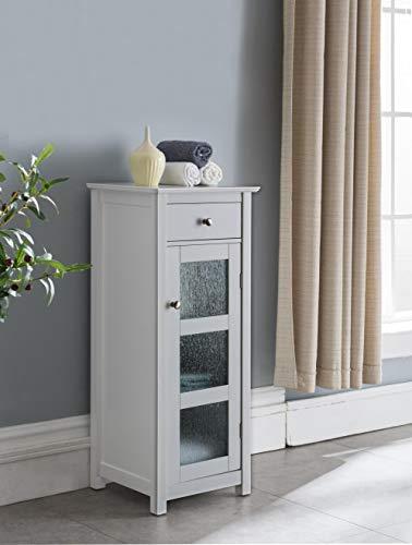 Kings Brand Furniture – Haines Wood Bathroom Floor Storage Cabinet, White