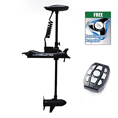 "Haswing Cayman 12v 55lbs Bow Mount Electric Trolling Motor Black 54"" Shaft"