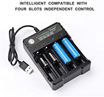 Amazon.com: Cargador universal USB 18650 de 4 bahías para ...