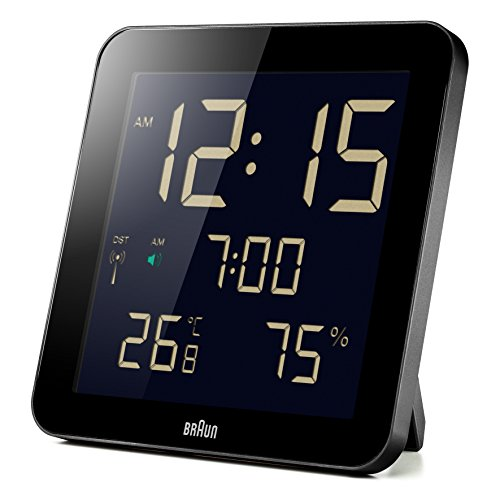 Braun BNC014BK-RC Temperature/Humidity Quartz Wall Clock
