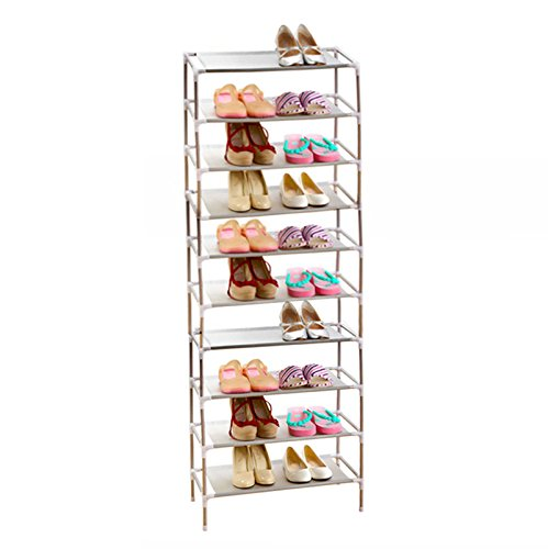 AcornFort® S-115 10 Tier Adjustable Shoe Storage Shoe Rack Organiser Shelf Hold Stand for 30 Pairs , Space Saving , Easy Assemble