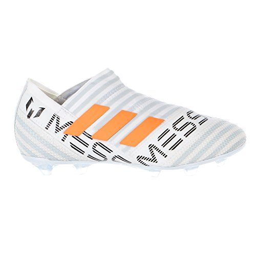 adidas Kid's Nemeziz Messi 17+ 360AGILITY FG Junior Soccer Cleats (Sz. 6) White, Solar Orange