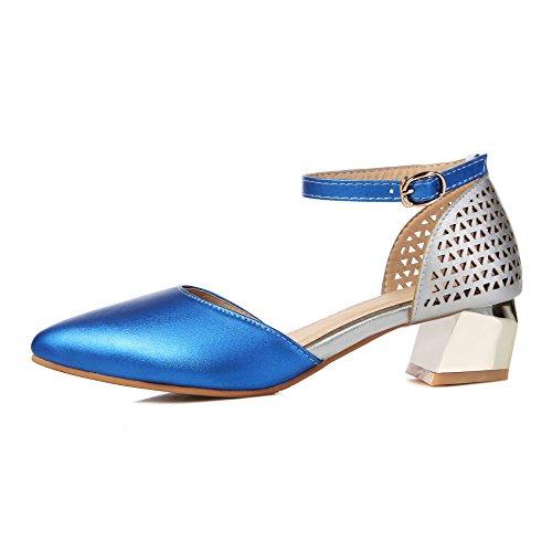 Señaló Toe Blue Qin La Sandalias Tacones Mujer amp;x Tobillo Al Bloque 5PPAwqagx