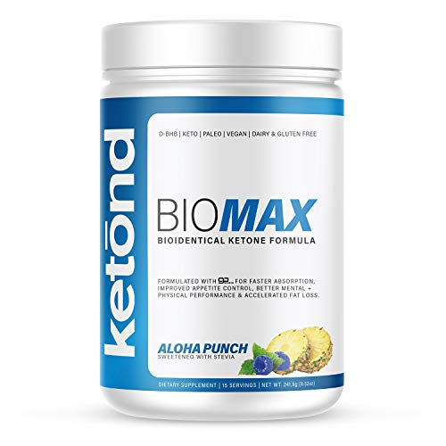 Ketond BioMax - Bioidentical Ketone Supplement - High-Performance Supplement with goBHB-D - Aloha Punch (20 Servings)