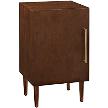 Image of Crosley Furniture Everett Mid-Century Modern Record Player Stand, Mahogany Home and Kitchen