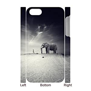 LZHCASE Design Diy hard Case Elephant For Iphone 4/4s [Pattern-1]