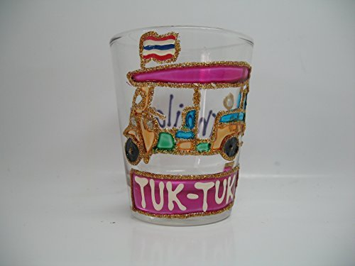 Tuk Tuk of Thailand Shot Glasses (Glass Cat Candy Dish)