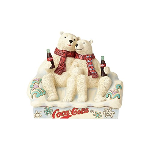 Jim Shore Bear (Enesco Coca-Cola by Jim Shore 4059475 Coke Polar Bear Couple Figurine)