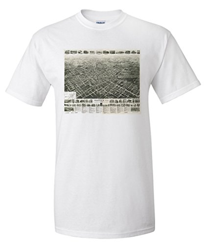 westfield-new-jersey-panoramic-map-white-t-shirt-small