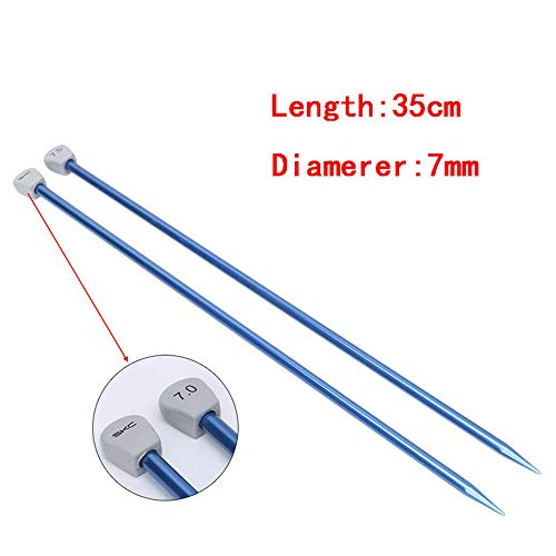 Straight Needles Lantern - MOPOLIS 2Pcs Aluminum Straight Single Point Knitting Needles Weaving Tool 2-10mm 35cm | Size - 7mm