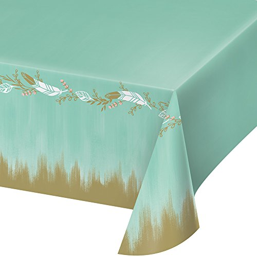 - Creative Converting 324683 Mint To Be To Be All Over All Over Print, 54 x 102-Inches, Plastic Tablecover
