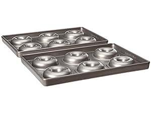 KitchenAid KBNSS06DG 6-Cavity Professional-Grade Nonstick Mini Doughnut Pan, Set of 2