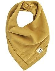 Kishu Baby Premium Organic Bandana Scarf Bibs with Snaps - Luxuriously Soft 100% Cotton Muslin Solid Color Bib - Multiuse