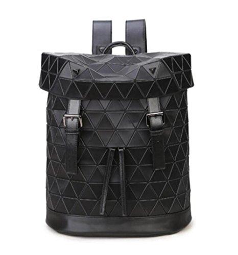 Leisure Lady New Version And Brown Of Wenl Shoulder South Geometric Bag Black Korea Travel Japan Bag Lingge Laser Zq7dpqw