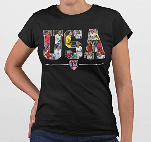USA Female Soccer Champions Girls United States Football Jersey Customized Handmade T-Shirt Hoodie/Long Sleeve/Tank Top/Sweatshirt ()
