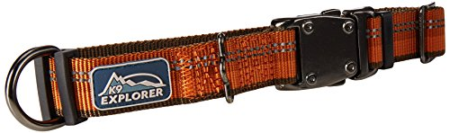 Coastal Pet Products DCP36922COG K9 Explorer 1-Inch Dog Collar, Medium, Orange -