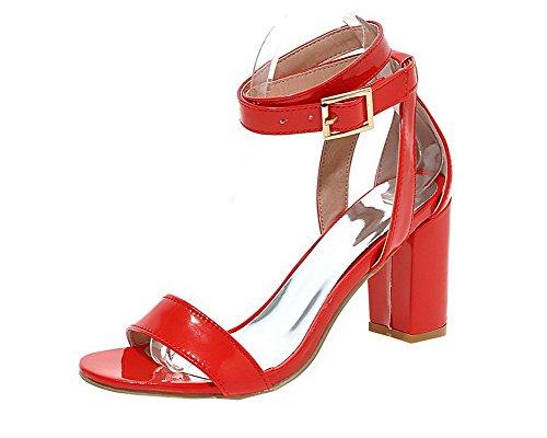 Ouverture GMBLB014240 Couleur Femme AgooLar Sandales Talon Haut d'orteil Rouge à Unie gYx7qH