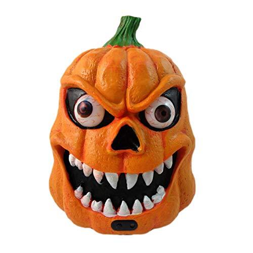 Fairy-Margot LED Halloween Decor Pumpkin Lantern Light Sound Sensors Built-in Soundings Batteries Party Decoration Prop Party -