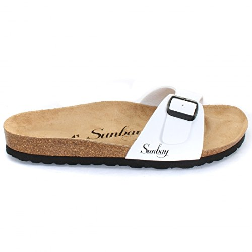 Sunbay - Fashion/Mode - Jasmin White - Taille 41 - Blanc Kickers Bottines Gazette Camel Kickers soldes 5KjRslIh