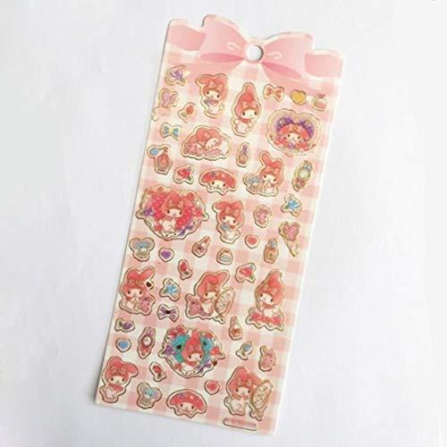 1 Sheet Kawaii Melody Twin Star Golden Foil DIY Decorative Stickers Sealing Paste Stick Label School Office ()