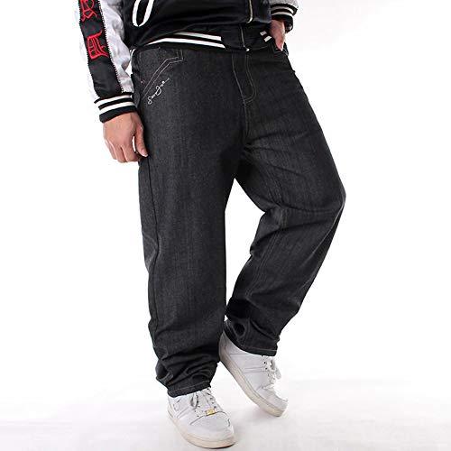 cf8983d897 Ruiatoo Men s Baggy Jeans Classic Plain Loose Hip Hop Pants Dance Black  Jeans Denim