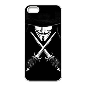 C-EUR Diy V for Vendetta Hard Back Case for Iphone 5 5g 5s
