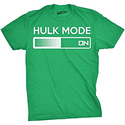 Hulk Mode On T Shirt Funny Comic Book Super Hero Hilarious Workout Shirts