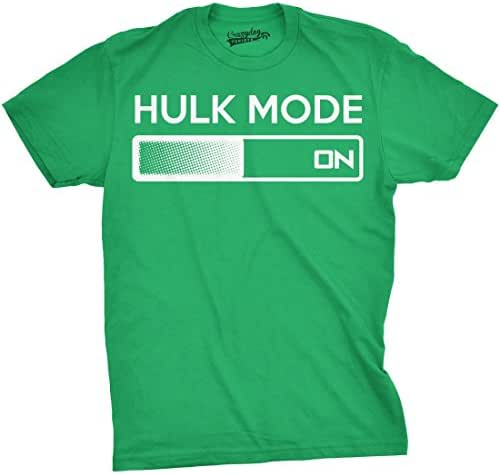 Hulk Mode On T Shirt Funny Comic Book Super Hero Hilarious Workout Shirts