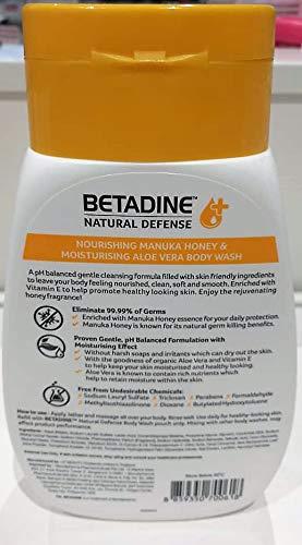 Amazon com: Betadine Natural Defense Body Wash Manuka Honey