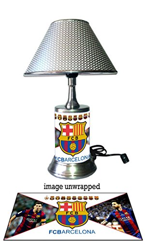 FC Barcelona Lamp with chrome shade, Lionel Messi