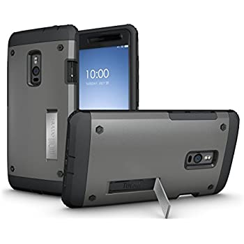 OnePlus 2 Case - TUDIA Ultra Tough OMNIX [Heavy Duty] Hybrid Full-body Protective Case with Front Cover and Built-in Screen Protector / Impact Resistant Bumpers Cover for OnePlus Two (Metallic Slate)