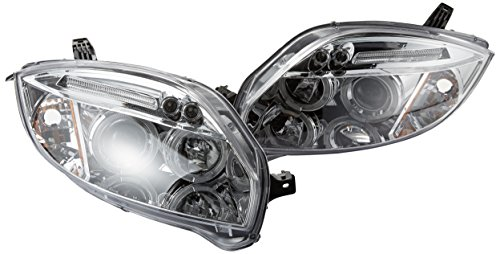 Spec-D Tuning 2LHP-ELP06-TM Mitsubishi Eclipse Chrome Clear Led Halo Projector Headlights