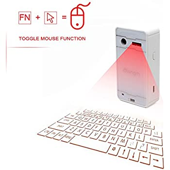 Virtual keyboard, atongm Laser Projection Bluetooth Wireless Keyboard for iPad iPhone Android Smart Phones PC Notebook