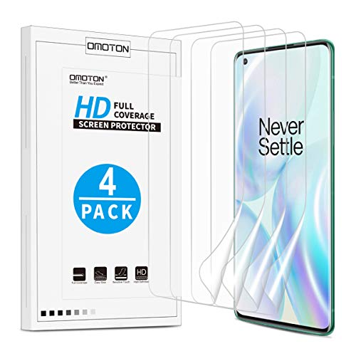 Protector de pantalla para OnePlus 8 Pro 2020 (Pack de 4)