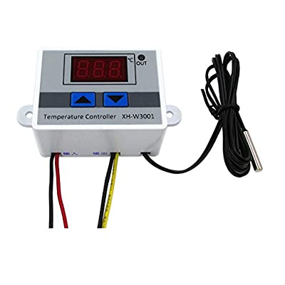 Comidox 220V Digital LED Temperature Controller 10A Thermostat Control Switch Probe 1PCS