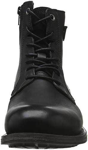 Tom Tailor 1685602, Botines para Hombre Negro - negro