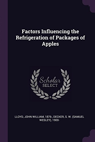 Factors Influencing the Refrigeration of Packages of Apples