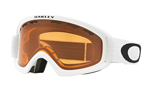 Oakley O Frame XS Youth Snow Goggles Matte White with Persimmon - Youth Ski Oakley Goggles