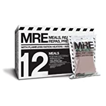 MRE (Meals, Ready to Eat) Premium case of 12 Fresh MRE with Heaters. 5 Year Shelf Life.