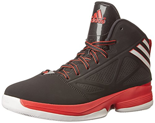 adidas Performance Men's Mad Handle 2 Basketball Shoe, Core Black/White/Scarlet, 12 M US