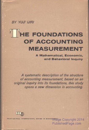 The Foundations of Accounting Measurement