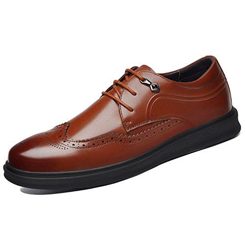 Formale Herren Classic Shoe Handgefertigte Leder Soled Arbeiten Oxford Fashion Lace-up Spitz Lederschuhe Brown