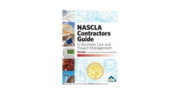 Amazon Com Georgia Nascla Contractors Guide To Business Law And