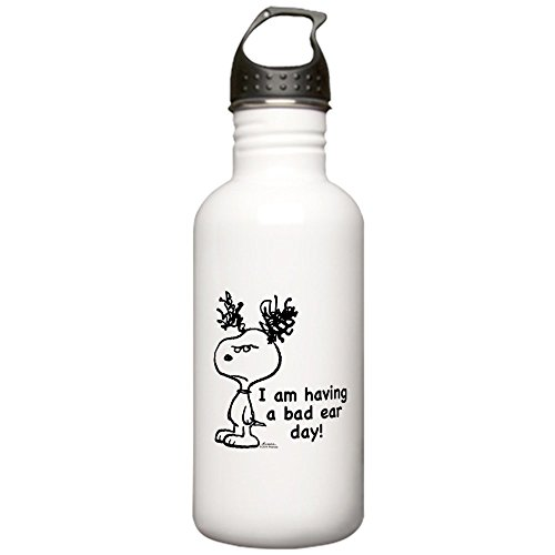 (CafePress - Snoopy: Bad Ear Day Stainless Water Bottle 1 - Stainless Steel Water Bottle, 1.0L Sports Bottle)